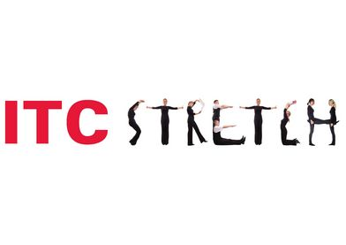 ITC stretch logo PMS186