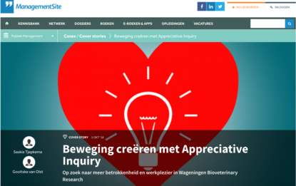Beweging creëren met Appreciative Inquiry