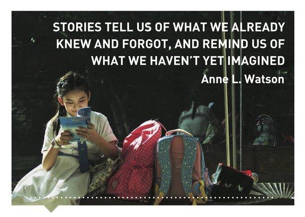 Verhalen(d) Veranderen kaart quote Anne L. Watson