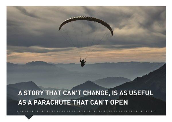 Verhalen(d) Veranderen kaart quote Anon