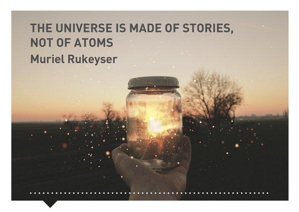 Verhalen(d) Veranderen kaart quote Muriel Rukeyser