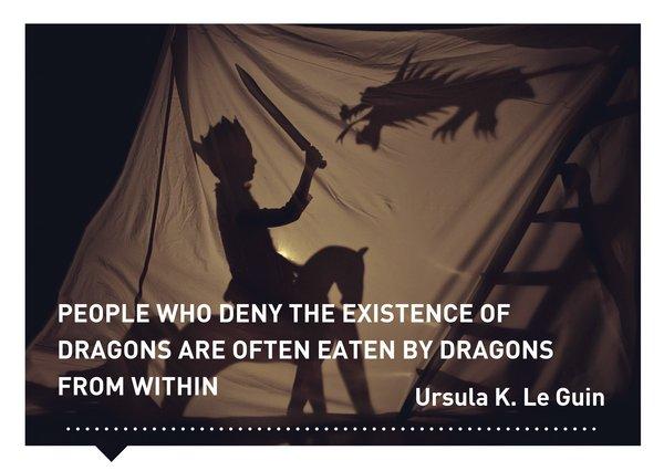 Verhalen(d) Veranderen kaart quote Ursula Le Guin
